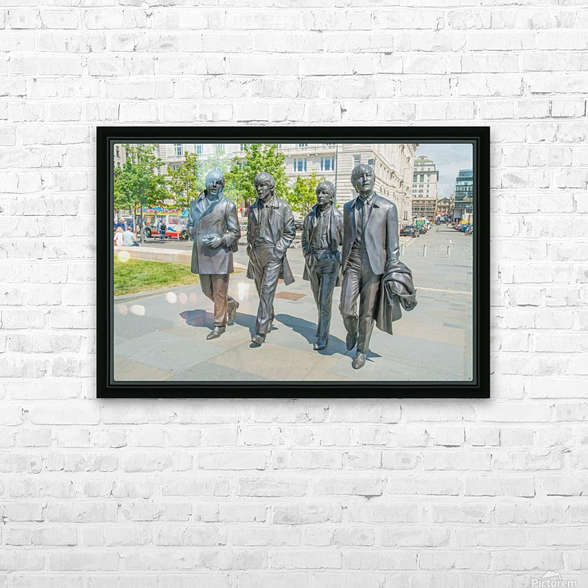 The Beatles Statue HD Sublimation Metal print with Decorating Float Frame (BOX)