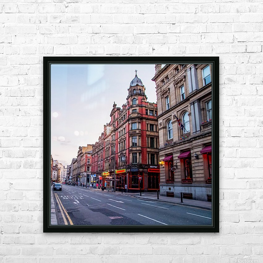 Liverpool street HD Sublimation Metal print with Decorating Float Frame (BOX)