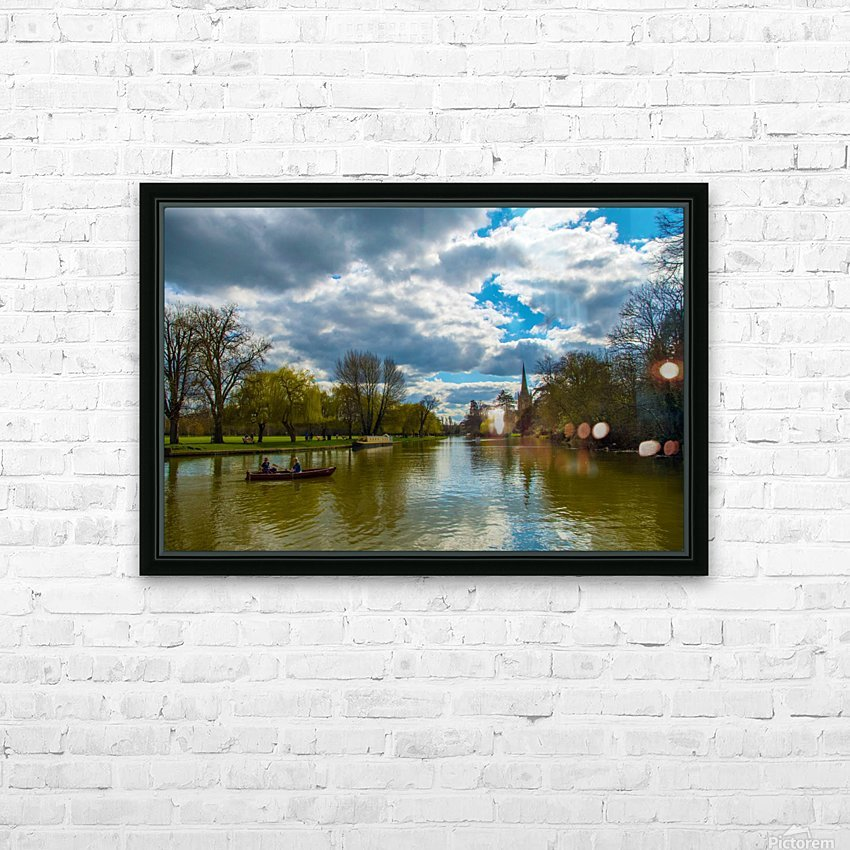 Stratford-Upon-Avon River HD Sublimation Metal print with Decorating Float Frame (BOX)