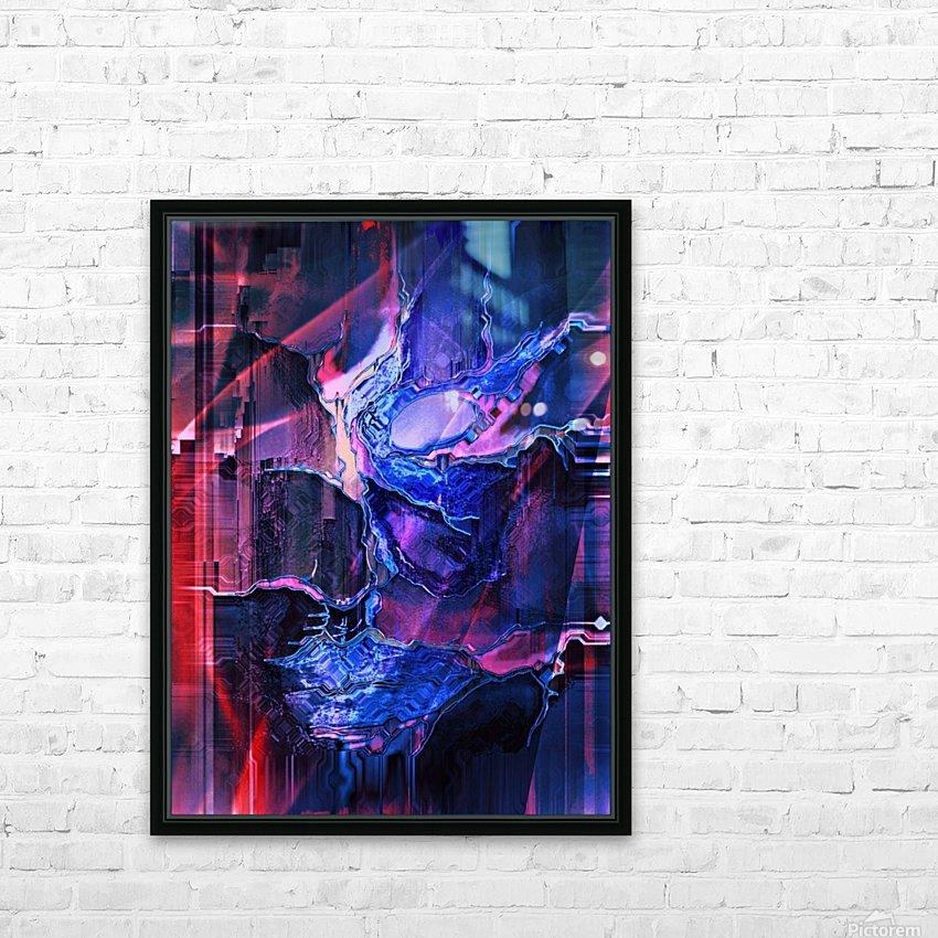 Blue Portrait HD Sublimation Metal print with Decorating Float Frame (BOX)