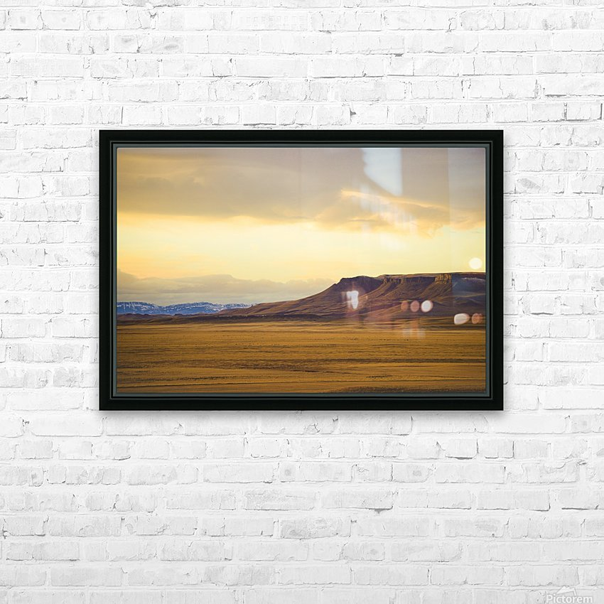 Square Butte HD Sublimation Metal print with Decorating Float Frame (BOX)