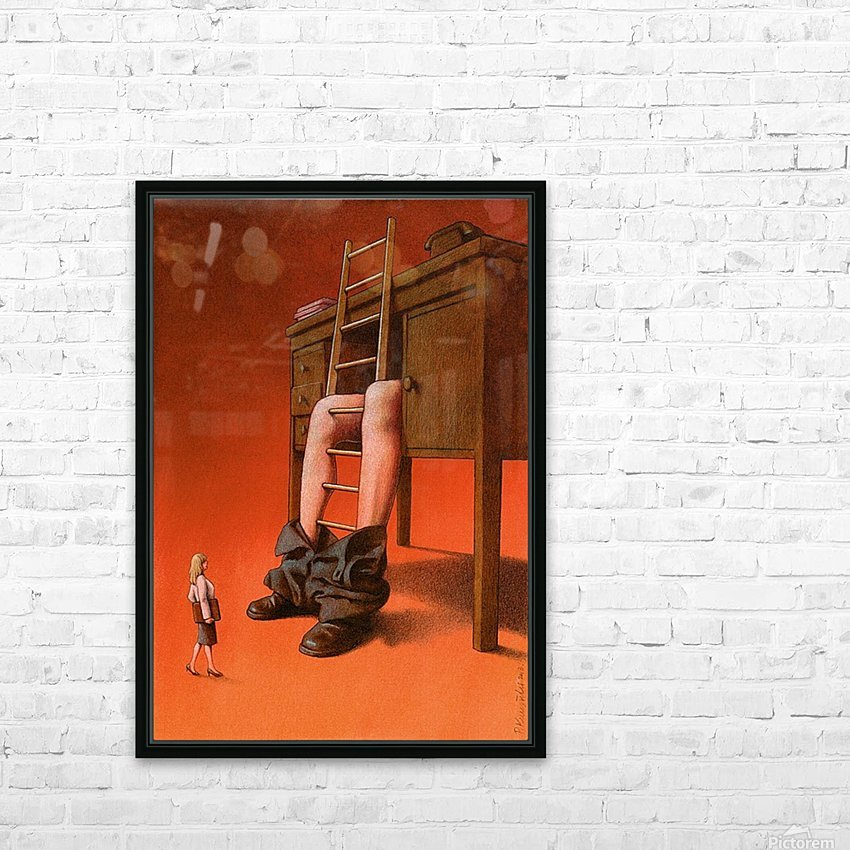 office HD Sublimation Metal print with Decorating Float Frame (BOX)