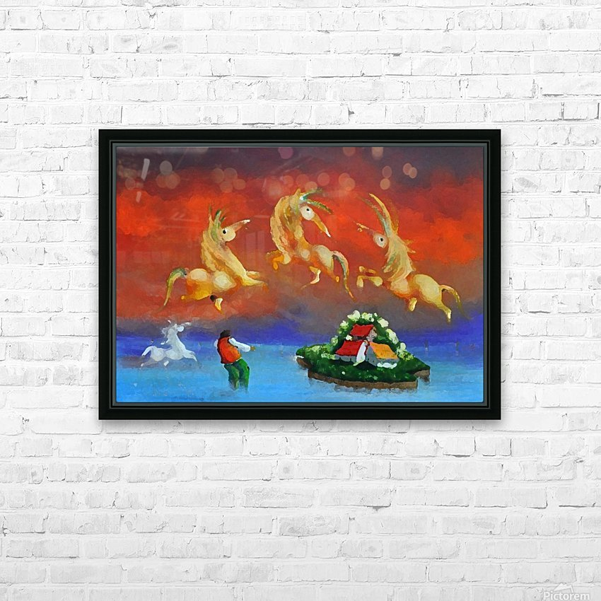 The Island Catcher HD Sublimation Metal print with Decorating Float Frame (BOX)