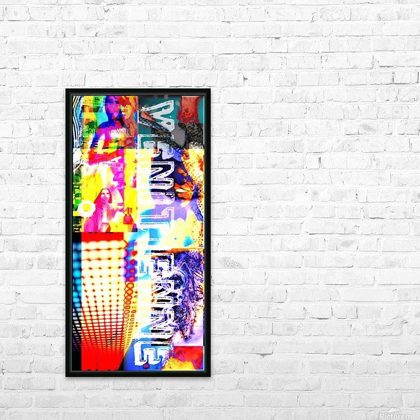ACRONYMES POUR LA PAIX HD Sublimation Metal print with Decorating Float Frame (BOX)