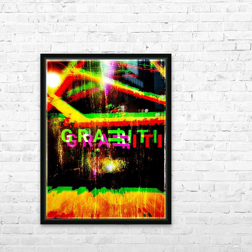 GRAFFITI FOR PRESIDENTE HD Sublimation Metal print with Decorating Float Frame (BOX)