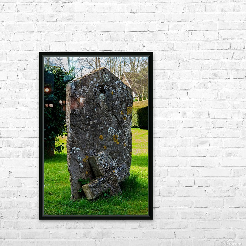 Tombstone HD Sublimation Metal print with Decorating Float Frame (BOX)