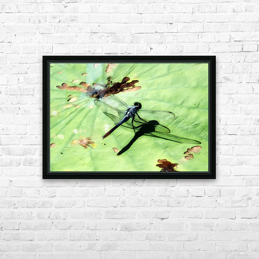 Dragon Fly HD Sublimation Metal print with Decorating Float Frame (BOX)