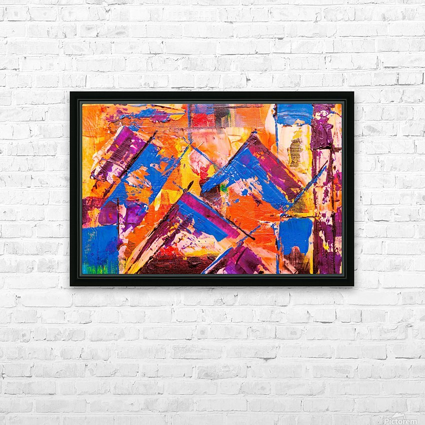 Modern art HD Sublimation Metal print with Decorating Float Frame (BOX)