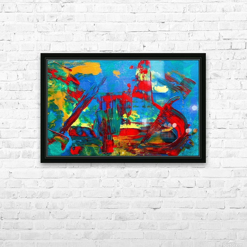 Expressionism HD Sublimation Metal print with Decorating Float Frame (BOX)