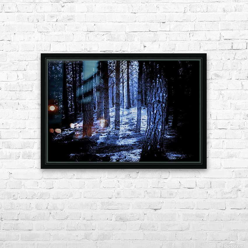 Mysterious Forest HD Sublimation Metal print with Decorating Float Frame (BOX)
