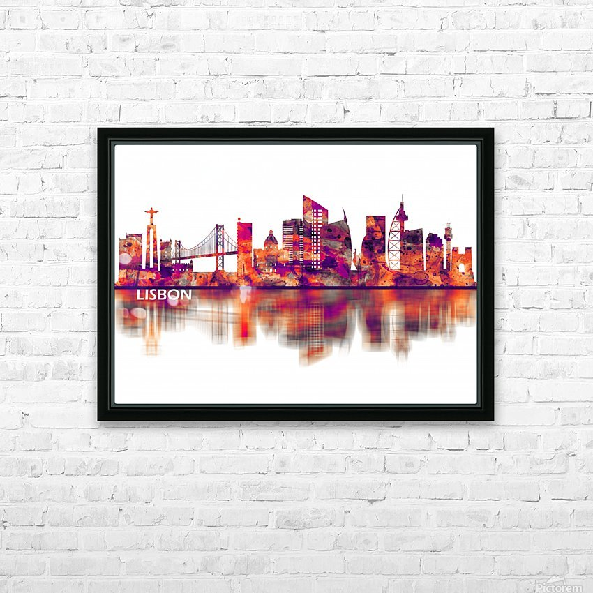 Lisbon Portugal Skyline HD Sublimation Metal print with Decorating Float Frame (BOX)