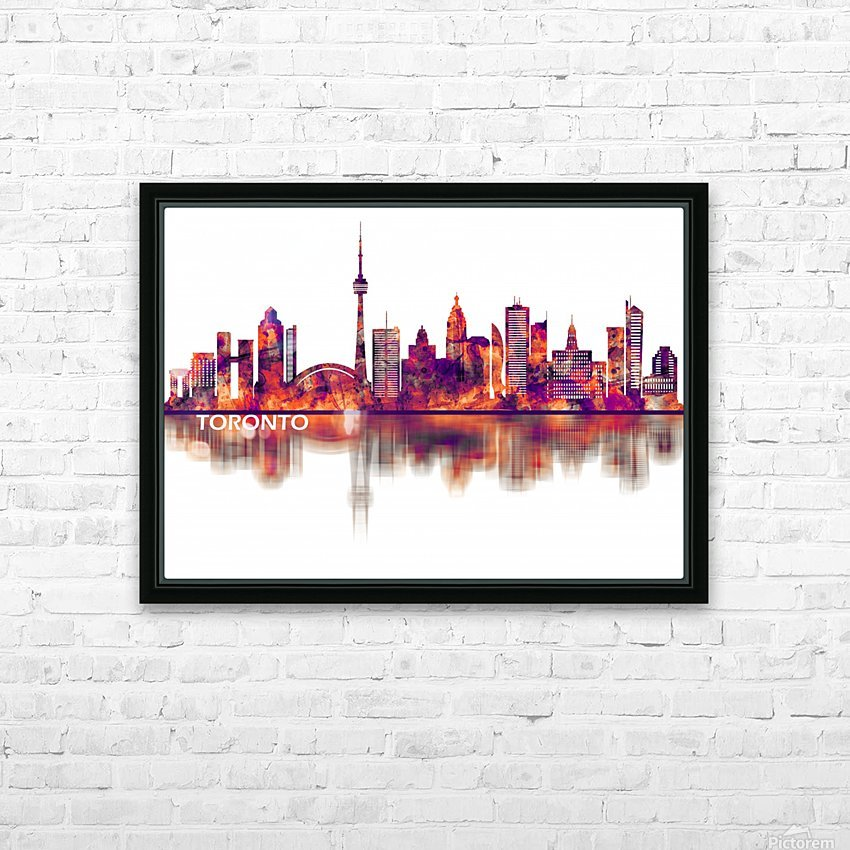 Toronto Canada Skyline HD Sublimation Metal print with Decorating Float Frame (BOX)