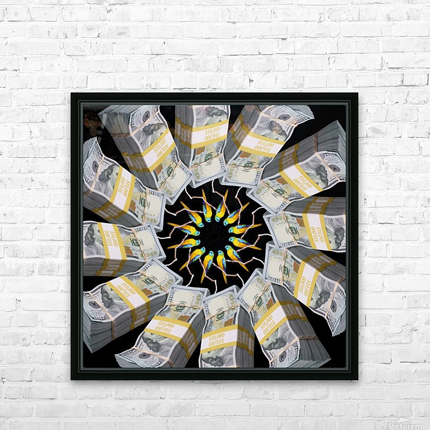 Some more PARROT MONEY for these clowns - HD Sublimation Metal print with Decorating Float Frame (BOX)