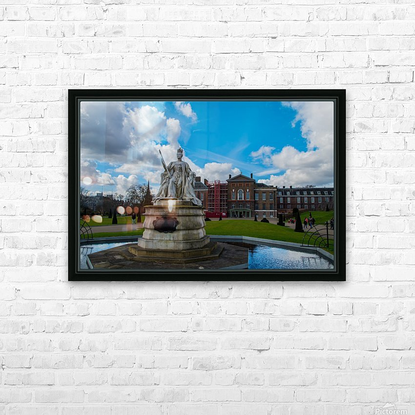 Queen Victoria Statue HD Sublimation Metal print with Decorating Float Frame (BOX)