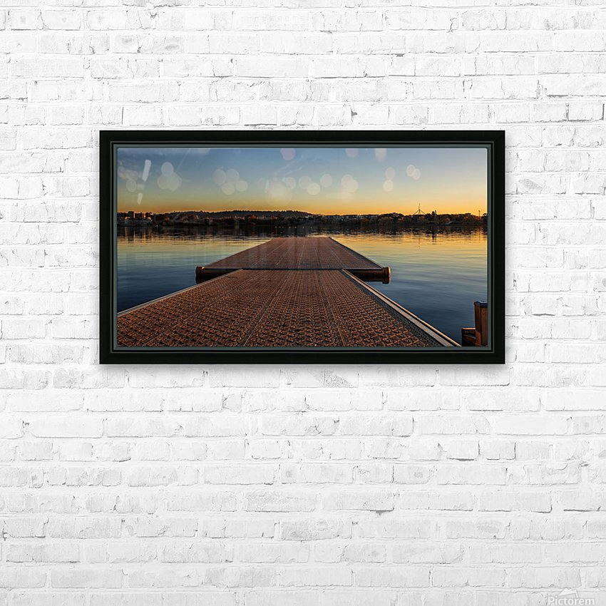 Dock at sunset HD Sublimation Metal print with Decorating Float Frame (BOX)