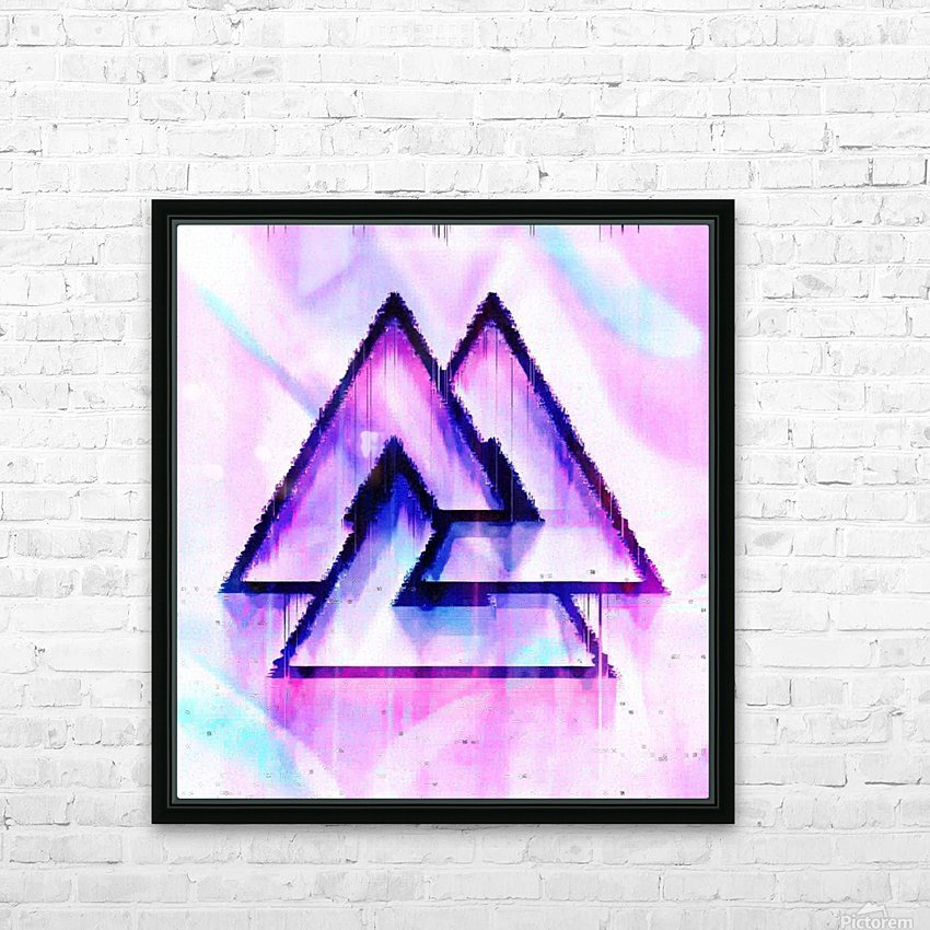 Valknut Light & Colorful HD Sublimation Metal print with Decorating Float Frame (BOX)