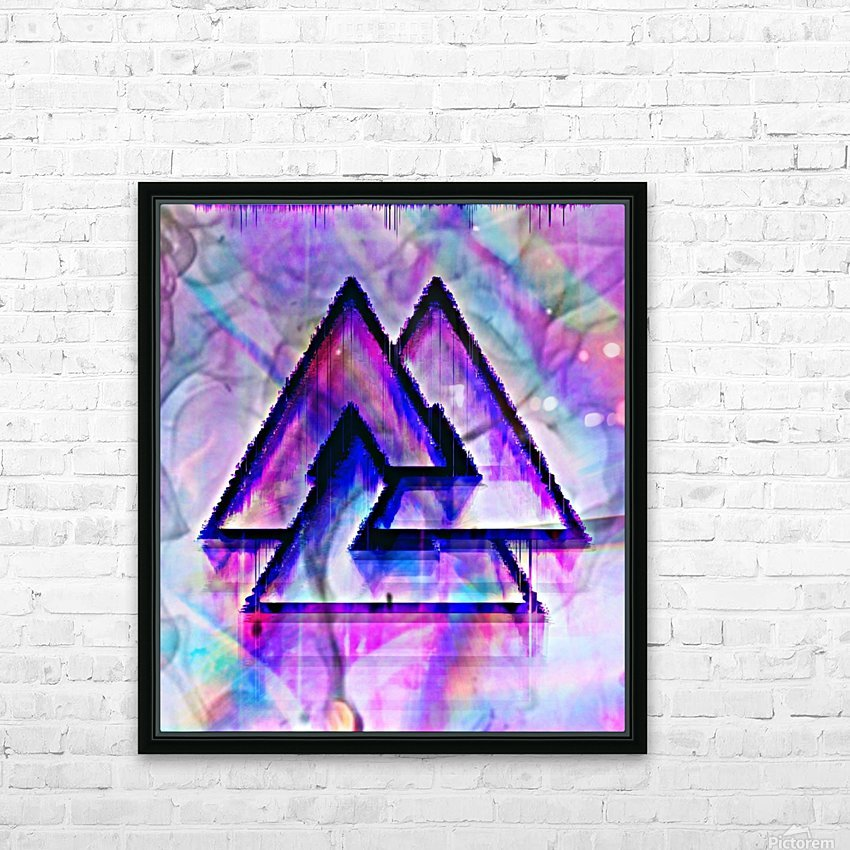 Valknut Colorful HD Sublimation Metal print with Decorating Float Frame (BOX)
