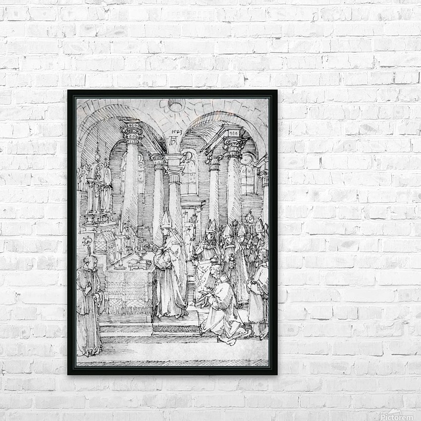 Mass of Cardinal Albrecht of Brandenburg in the Abbey Church Hall HD Sublimation Metal print with Decorating Float Frame (BOX)