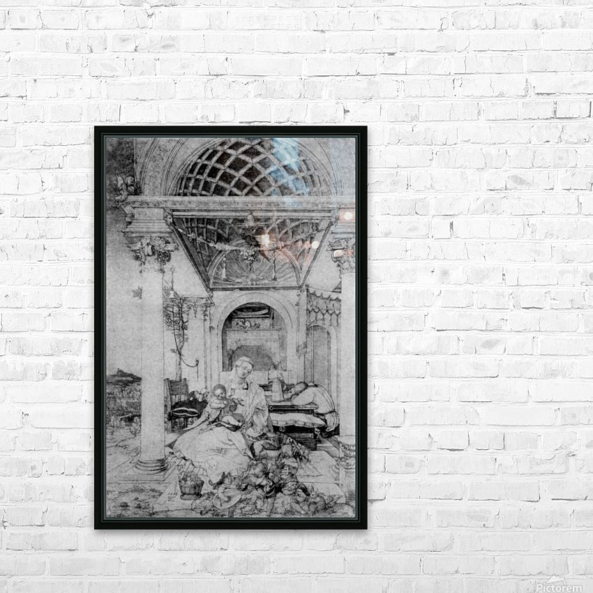 The holy family in a hall HD Sublimation Metal print with Decorating Float Frame (BOX)