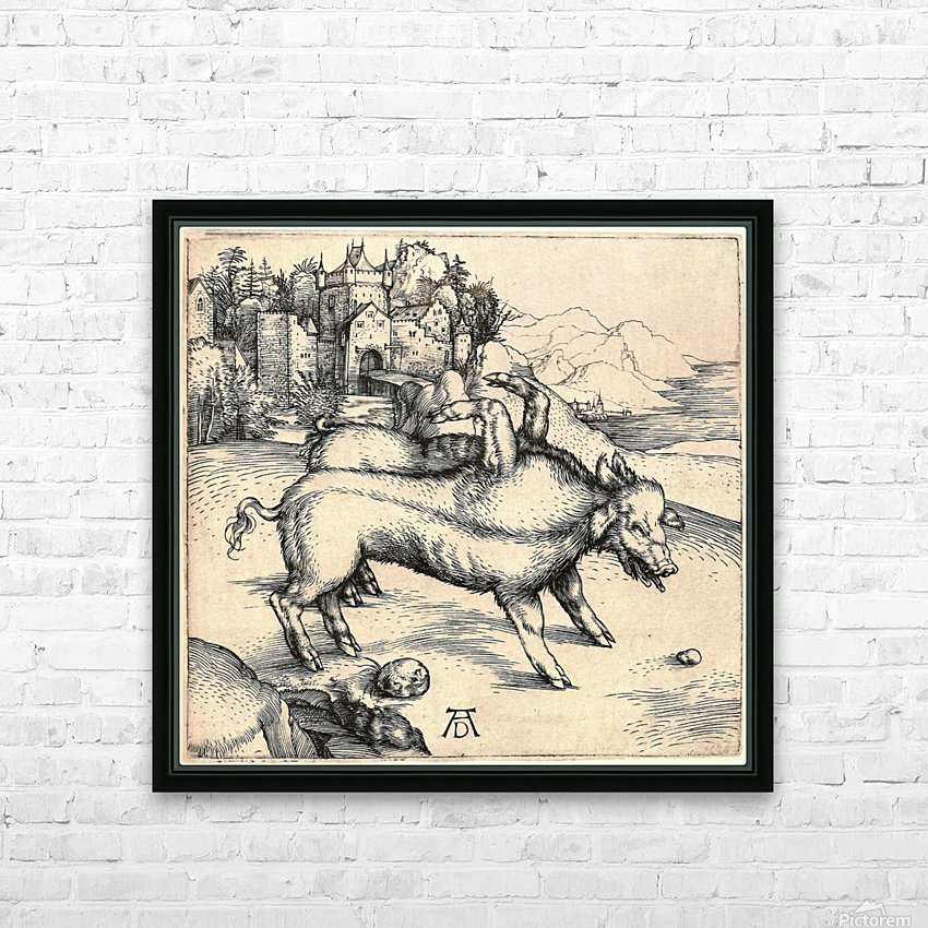 Monstrous Sow of Landser HD Sublimation Metal print with Decorating Float Frame (BOX)