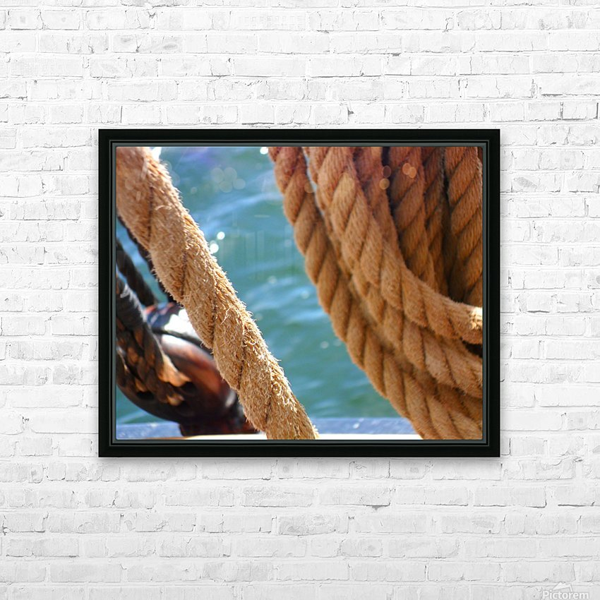 Learning the Ropes HD Sublimation Metal print with Decorating Float Frame (BOX)