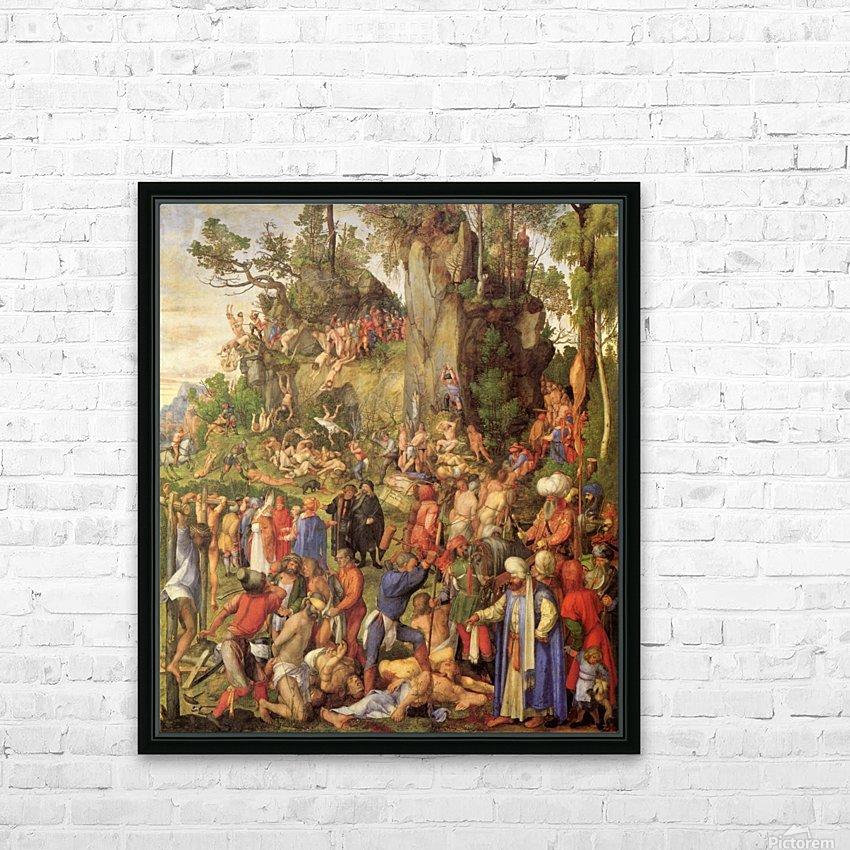 Marter der zehntausend Christen HD Sublimation Metal print with Decorating Float Frame (BOX)