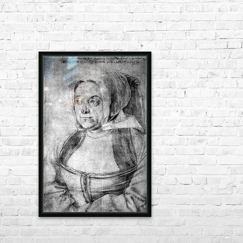 Agnes Durer in Dutch Tracht HD Sublimation Metal print with Decorating Float Frame (BOX)