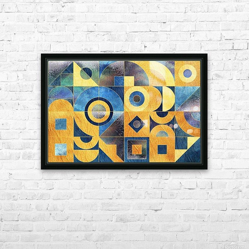 Geometric XXXXXVII HD Sublimation Metal print with Decorating Float Frame (BOX)