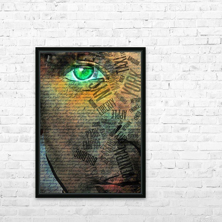 NYC Face HD Sublimation Metal print with Decorating Float Frame (BOX)