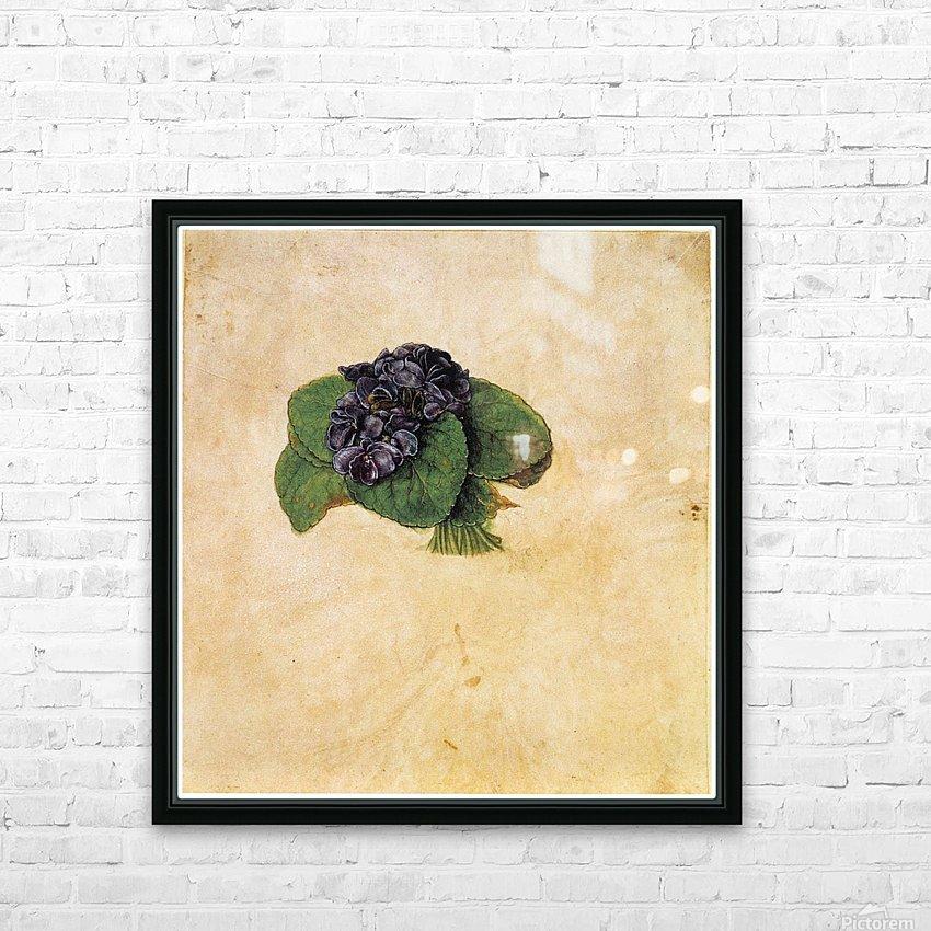 Violet Bouquet HD Sublimation Metal print with Decorating Float Frame (BOX)