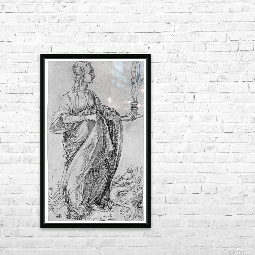 Drawing from the tarot-prudence HD Sublimation Metal print with Decorating Float Frame (BOX)