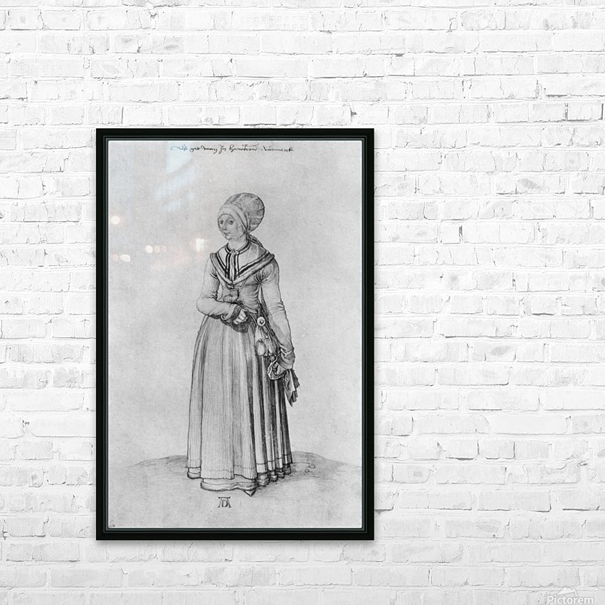 Nuremberg woman in house dress HD Sublimation Metal print with Decorating Float Frame (BOX)