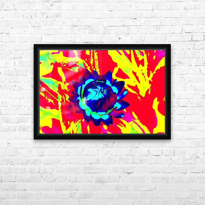 Graphic Flower Effect 2 HD Sublimation Metal print with Decorating Float Frame (BOX)