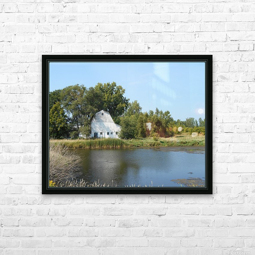 Peaceful Pond HD Sublimation Metal print with Decorating Float Frame (BOX)