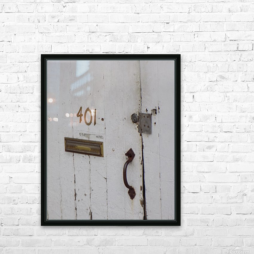 Weathered Door HD Sublimation Metal print with Decorating Float Frame (BOX)