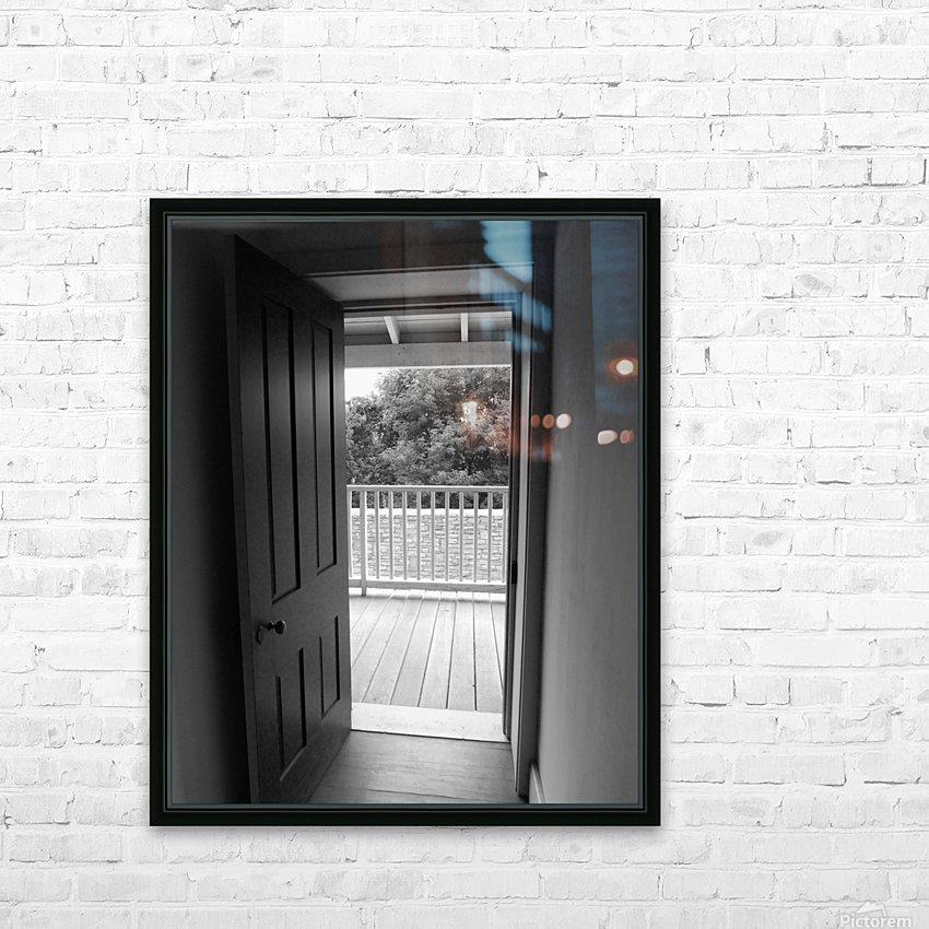 Open Door Black & White HD Sublimation Metal print with Decorating Float Frame (BOX)