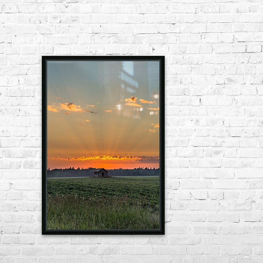 Sunset Hut HD Sublimation Metal print with Decorating Float Frame (BOX)