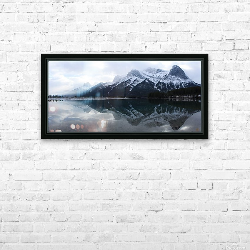 Canmore Winter Mountain Panorama HD Sublimation Metal print with Decorating Float Frame (BOX)