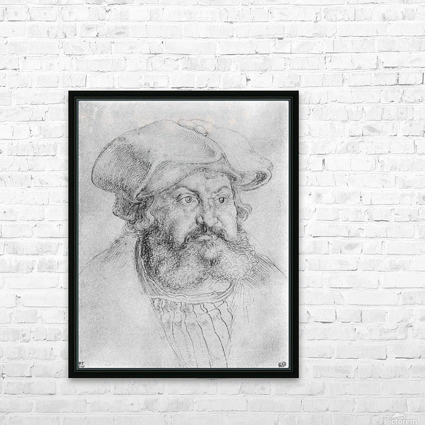 Portrait of Elector Friedrich the Wise HD Sublimation Metal print with Decorating Float Frame (BOX)