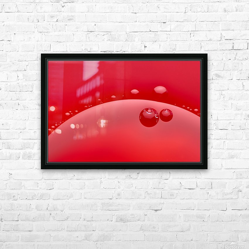 Abstract background of red color and circle shape HD Sublimation Metal print with Decorating Float Frame (BOX)