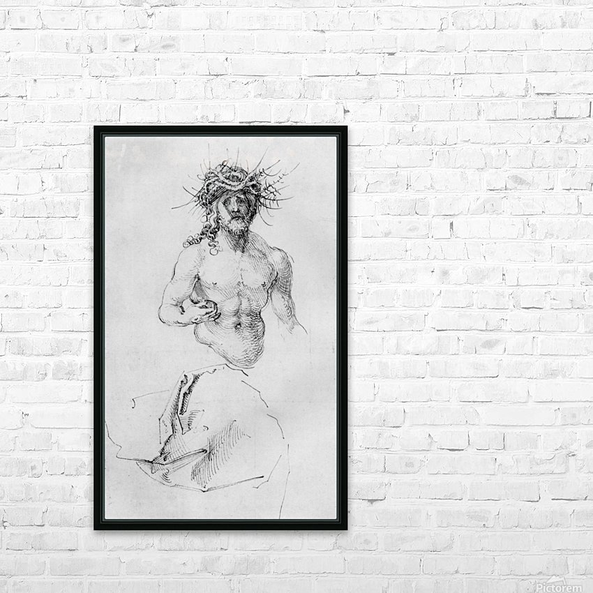 Study sheet with Christ as Man of Sorrows and a garment study HD Sublimation Metal print with Decorating Float Frame (BOX)