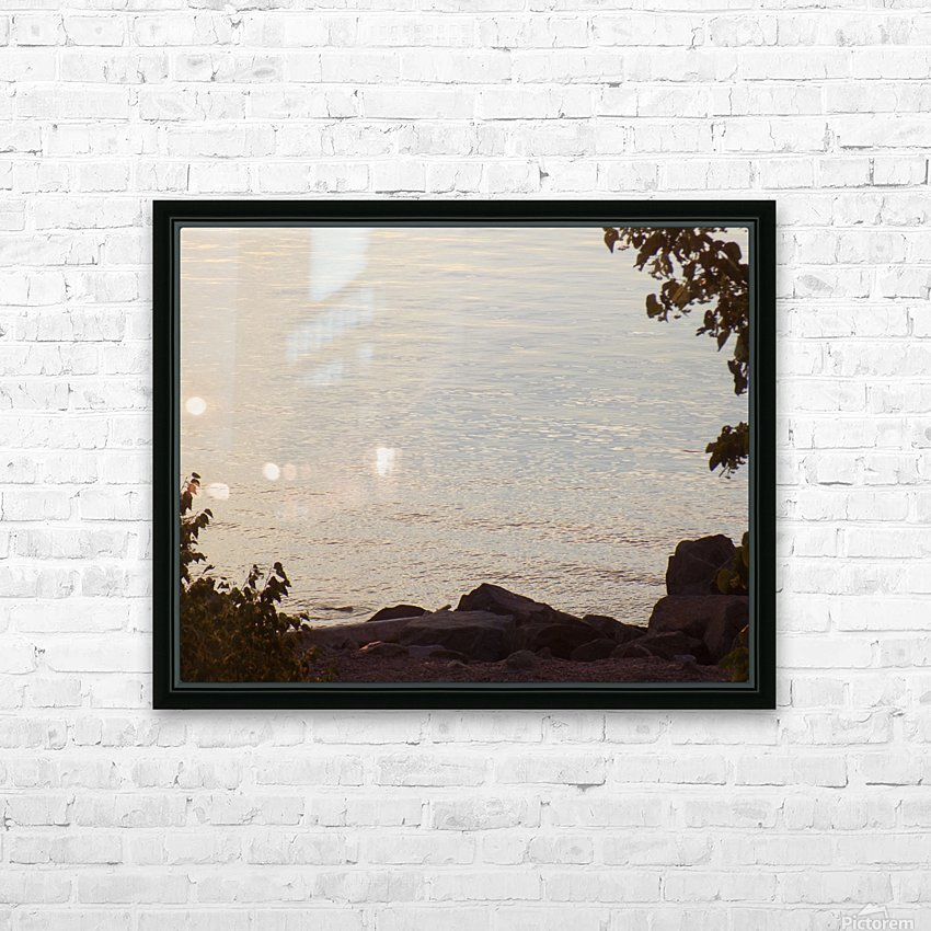 Rocky Shore 1 HD Sublimation Metal print with Decorating Float Frame (BOX)