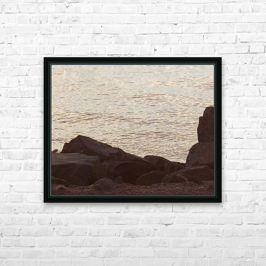 Rocky Shore 2 HD Sublimation Metal print with Decorating Float Frame (BOX)