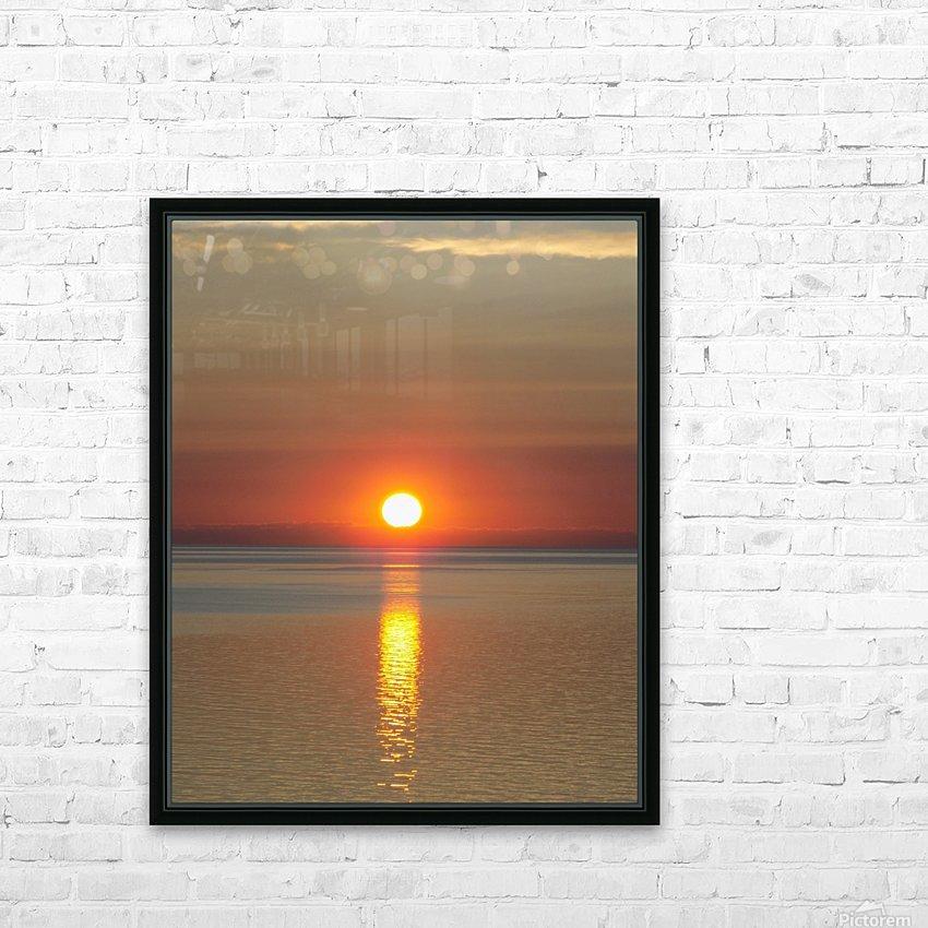 Orange Sunset Vertical HD Sublimation Metal print with Decorating Float Frame (BOX)