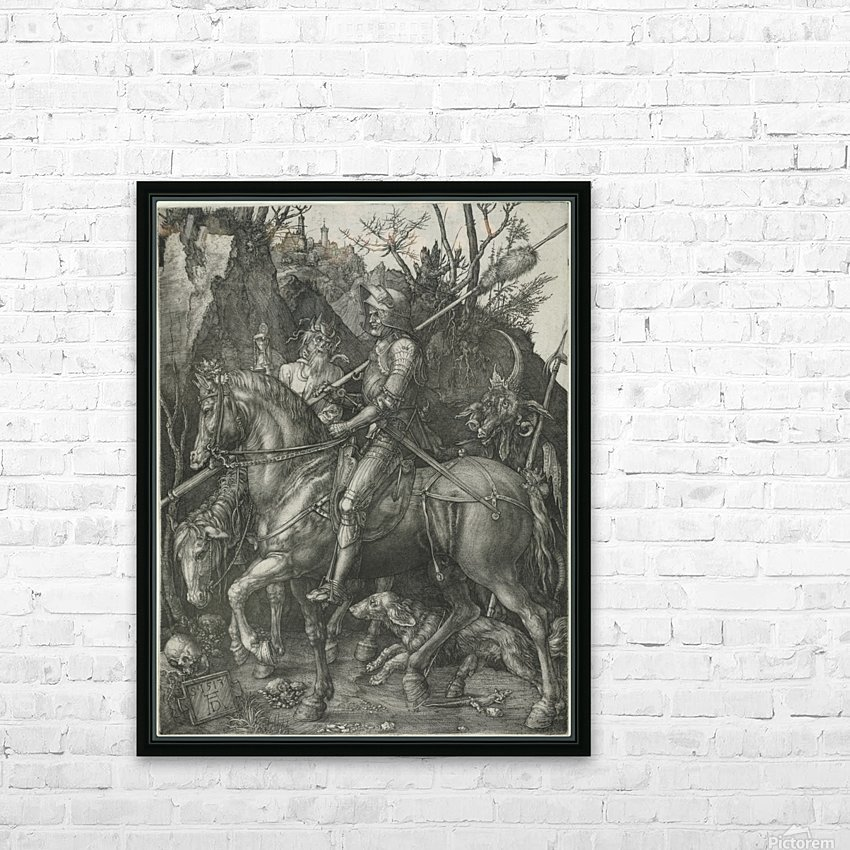 German knight HD Sublimation Metal print with Decorating Float Frame (BOX)