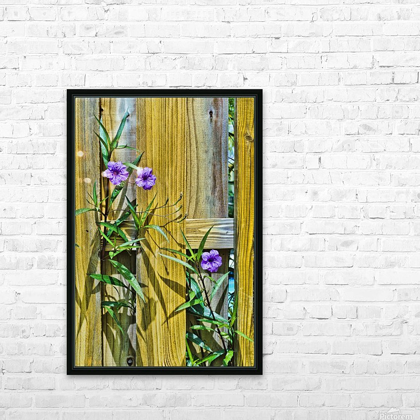 Fence Flowers 1 HD Sublimation Metal print with Decorating Float Frame (BOX)