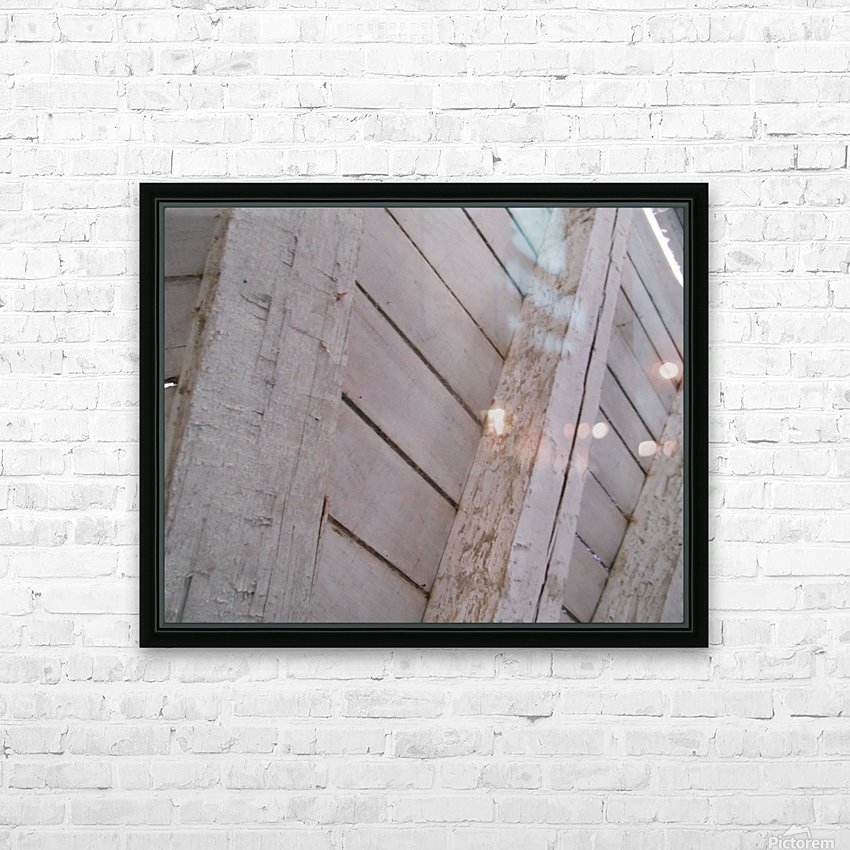 Wooden Beams HD Sublimation Metal print with Decorating Float Frame (BOX)