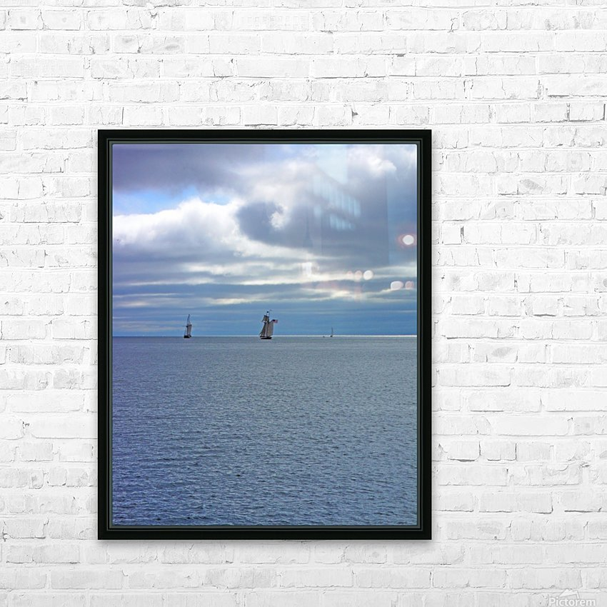 Tall Ships Vista HD Sublimation Metal print with Decorating Float Frame (BOX)