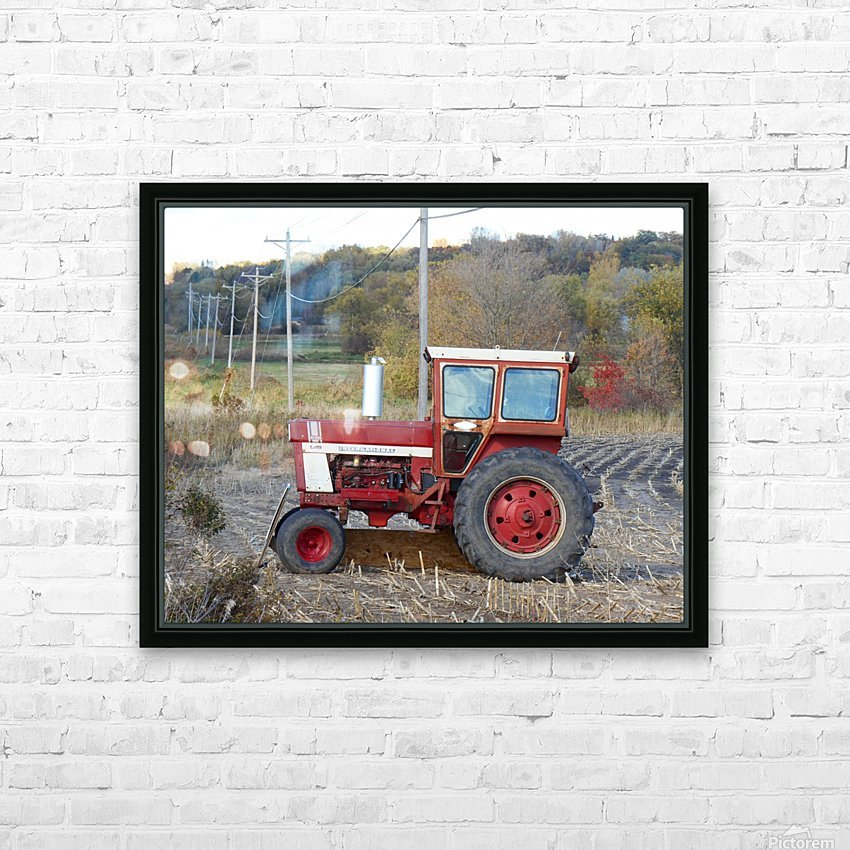 Tractor and Telephone Poles HD Sublimation Metal print with Decorating Float Frame (BOX)