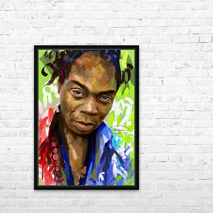 FELA KUTI HD Sublimation Metal print with Decorating Float Frame (BOX)